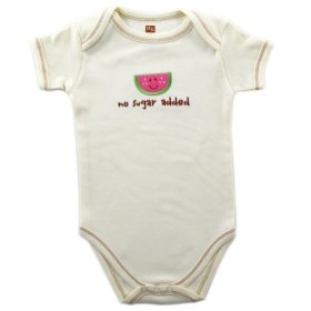 Hudson Baby Organic Bodysuit – Watermelon Ecru Newborn