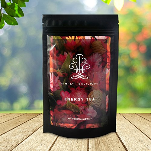 Simply Tealicious – For Natural Energy + Promote Weight Loss + Craving Control + Appetite Suppression + Delicious Taste + 100% Certified Organic Ingredients. Energy and Metabolic Boost Tea with a Natural Blend of Green tea, Oolong tea, White tea, Pu erh Tea, and More!