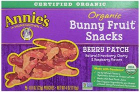 Annie's Homegrown Organice Bunny Fruit Snacks, Berry Patch, 4 Oz Box