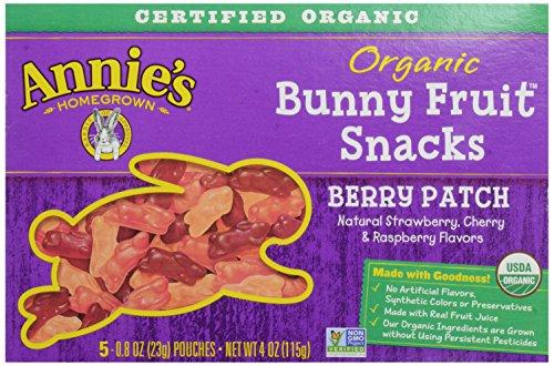 Annie's Homegrown Organice Bunny Fruit Snacks, Berry Patch, 4 Oz Box