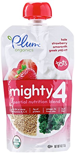 Plum Organics Mighty 4 – Kale Strawberry Amaranth Greek Yogurt (1 Count)