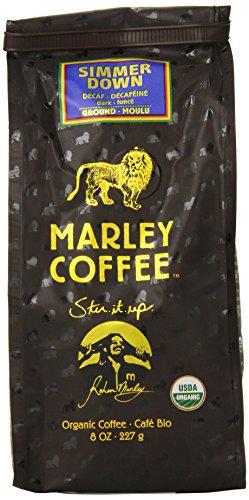 Marley Coffee, Organic Simmer Down Decaffeinated, Ground Coffee, 8 Ounce