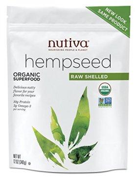 Nutiva Organic Shelled Hemp Seed, 12 Ounce