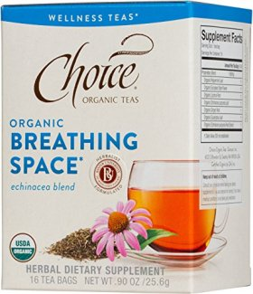 Choice Organic Teas Tea Bag, Breathing Space, 16 Count