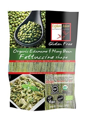 Explore Asian 100% Organic Gluten Free Mung Bean Fettuccini 200g (Pack of 5)