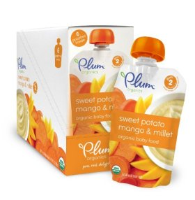 Plum Organics Baby Second Blends Fruit and Grain, Sweet Potato/Mango and Millet, 3.5 Ounce