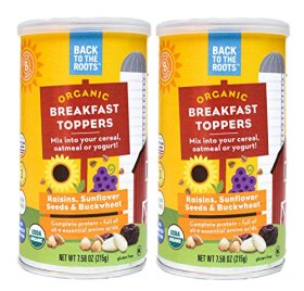 Back to the Roots Organic Breakfast Toppers Raisins, Sunflower Seeds and Buckwheat, 15.16 Ounce