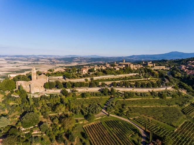 Montalcino city