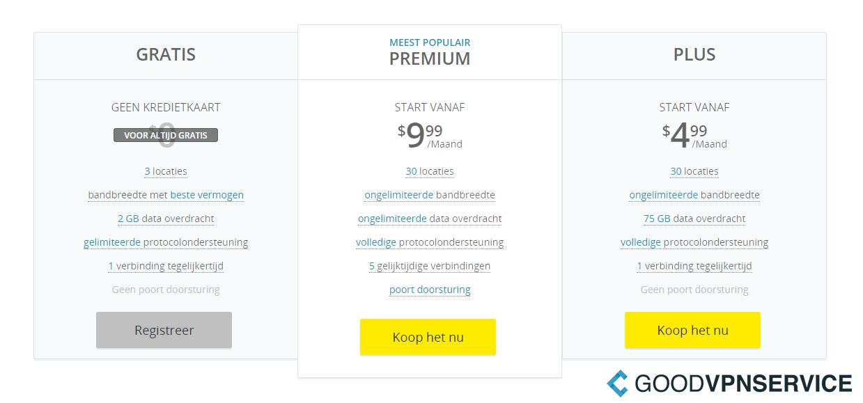 Prijzen - HideMe
