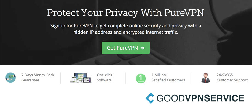 Protect your privacy PureVPN