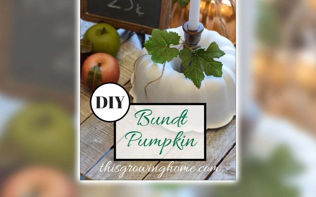 Farmhouse Fall Decor Bundt Pumpkin DIY