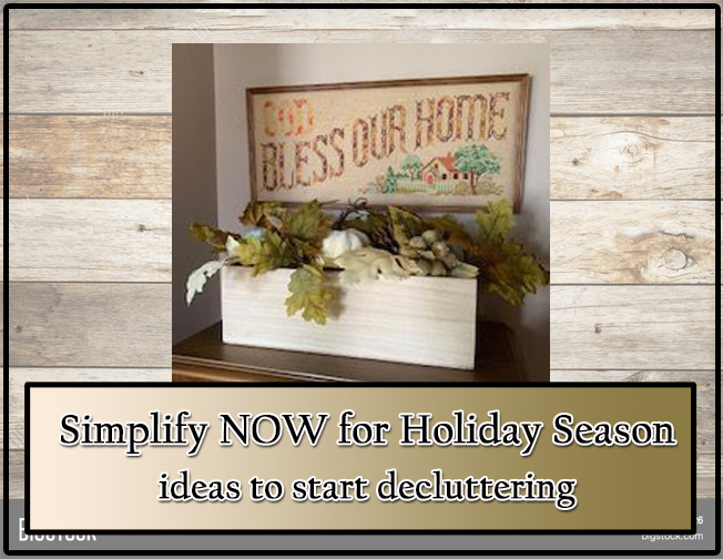 Simplify NOW for Holiday Season