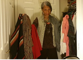 Closet purging; Process of elimination, giving back and donating to Goodwill.