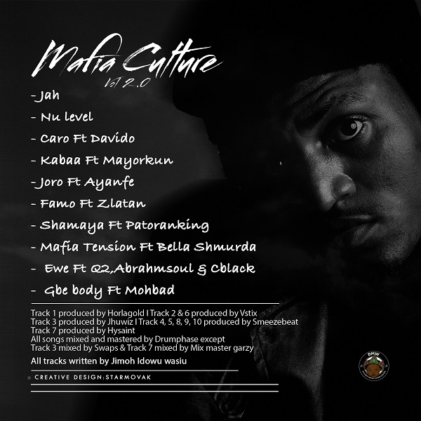 "Idowest to Release ""Mafia Culture, Vol. 2"" with Davido, Bella Smurda, Mayorkun; See Tracklist"