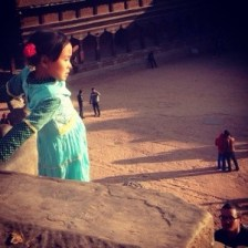 A beautiful Nepalise girl in Bhaktapur