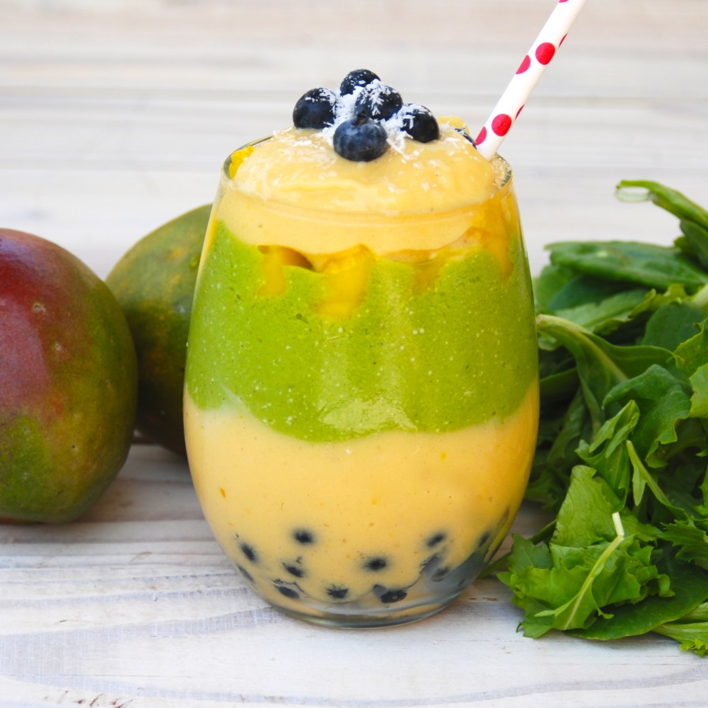 Asian Greens and Mango Smoothie