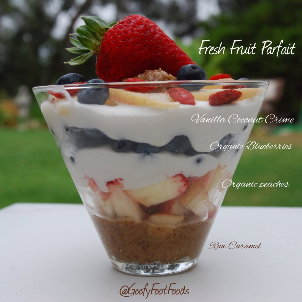 Seasonal Vegan Fruit Parfait