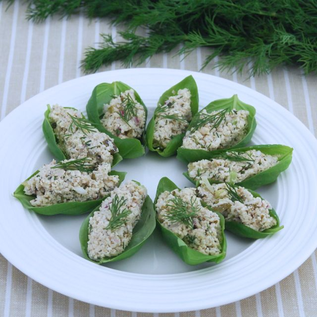 Nut Tuna and Basil Appetizers