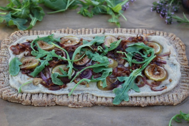 Gluten-Free Fig, Onion and Arugula Tart