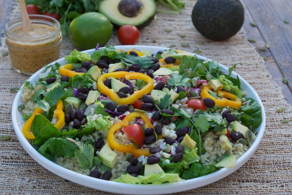 Spicy-California-corn-and-quinoa-salad