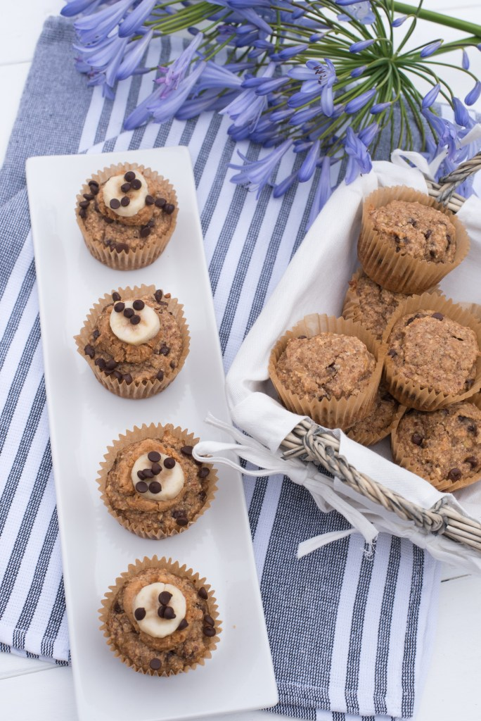 Gluten Free Vegan Banana Chocolate Chip Muffins