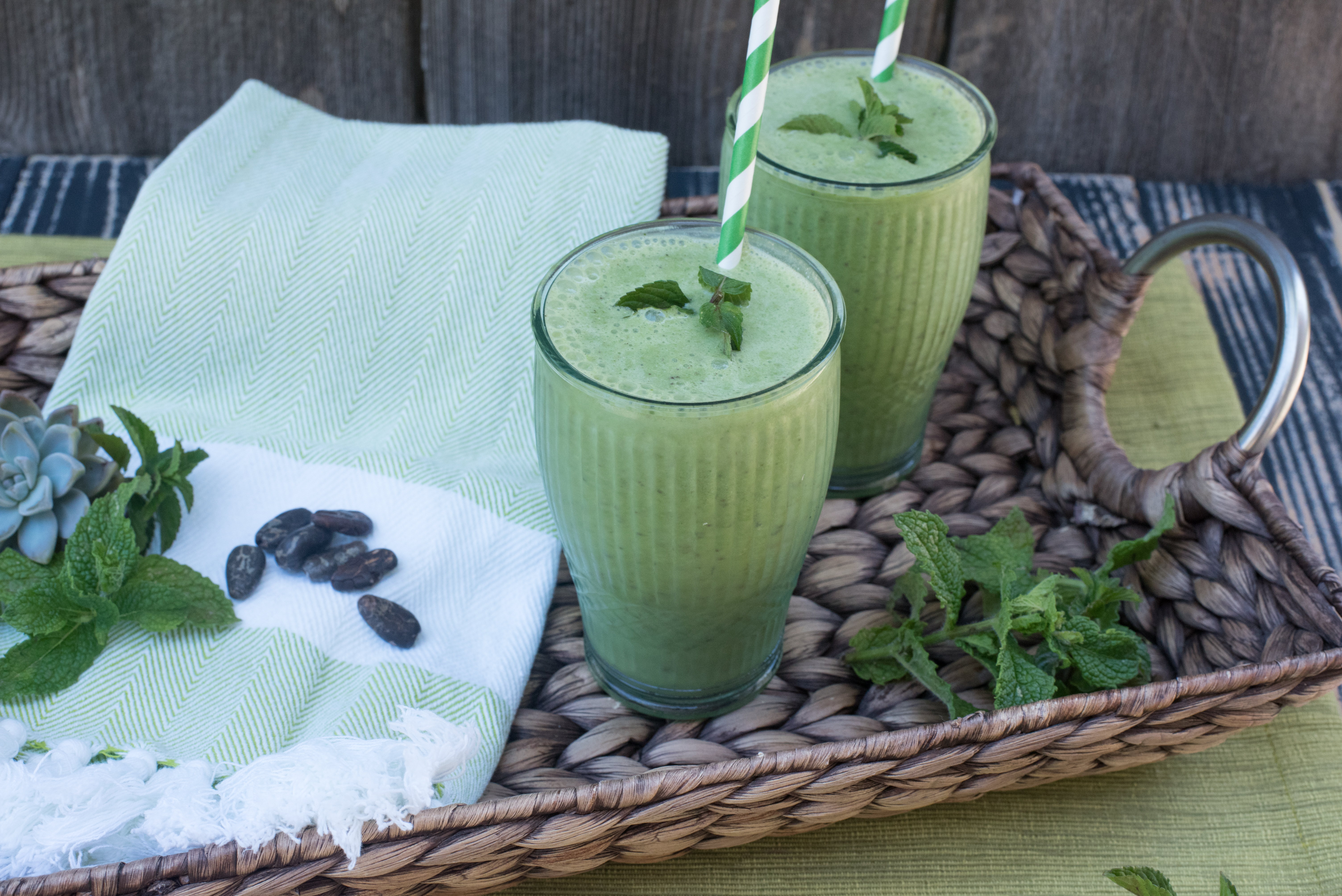 Chocolate Mint Kale Refresher