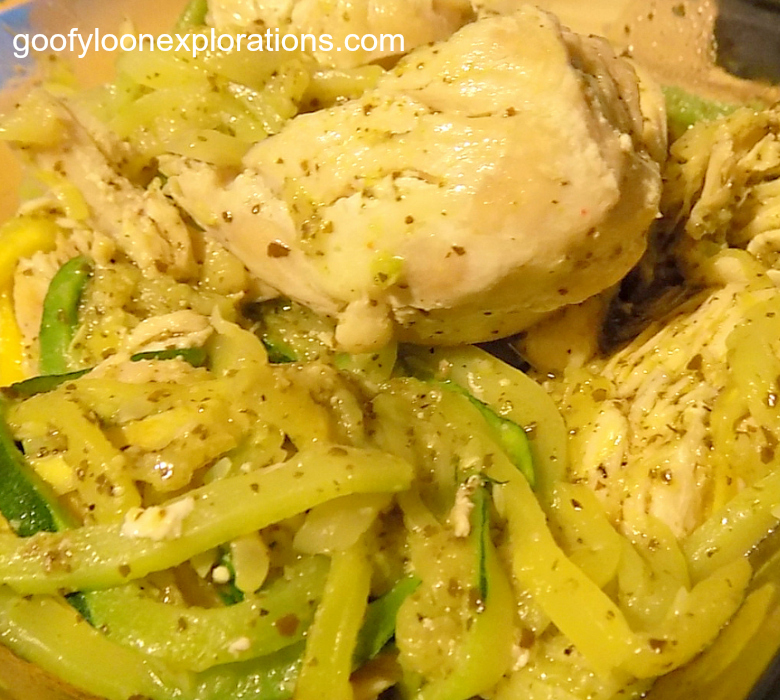 You Need These Chicken Pesto Zoodles in Your Life
