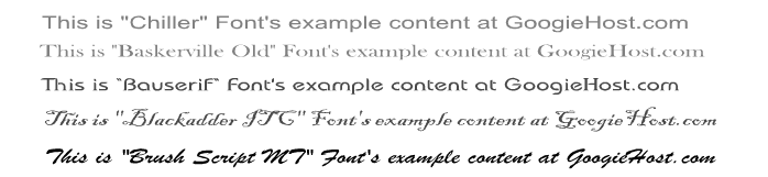 font examples in blogs