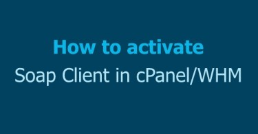 Activate SoapClient in cPanel WHM