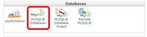 MySQL Databases Page