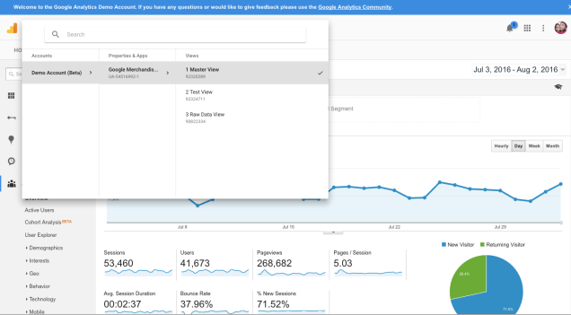 Google-analytics-demo-account