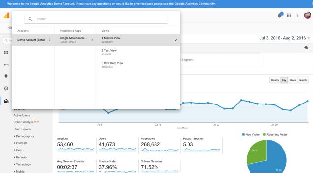 Google-analytics-demo-account