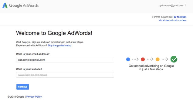create-adwords-account