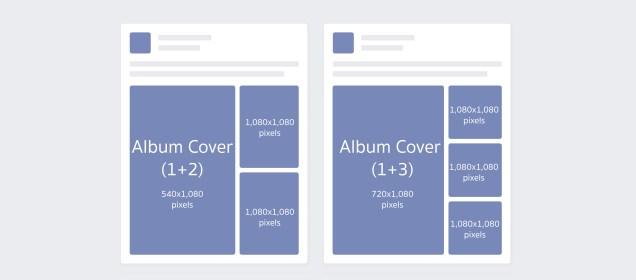 ขนาดรูป Facebook Album โพสต์แบบแนวตั้ง