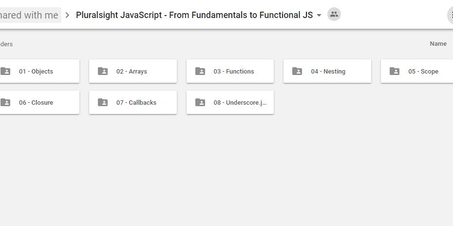 Pluralsight JavaScript