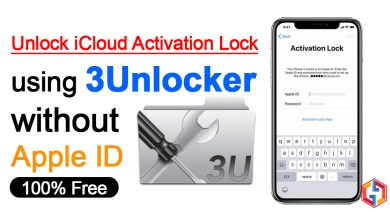 Unlock iCloud Activation Lock using 3Unlocker without Apple ID