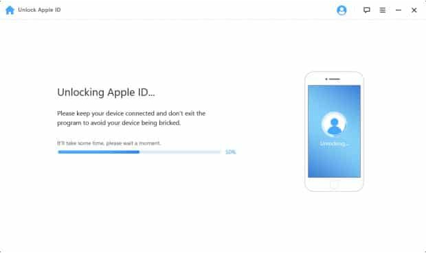 Unlocking Apple ID with iMyFone
