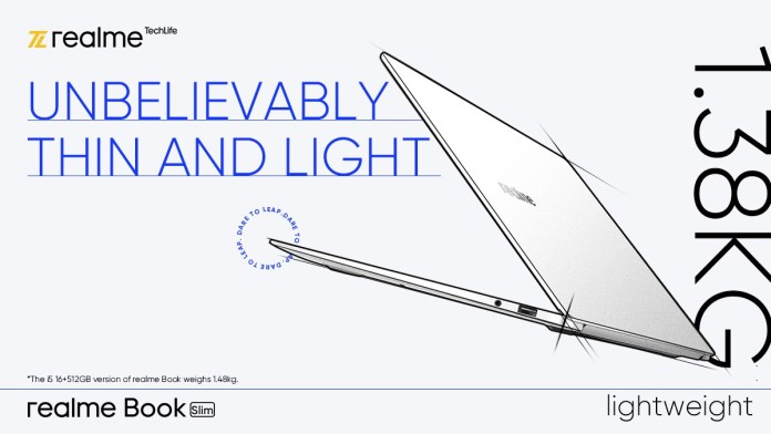 Realme Book Slim will be lighter than the MacBook Pro; confirms company