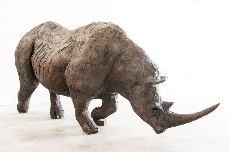 Life Size Rhino Sculpture by Vincent da Silva Product Photography