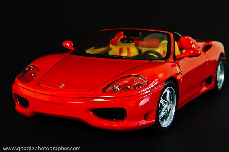 Ferrari Front Product Photography