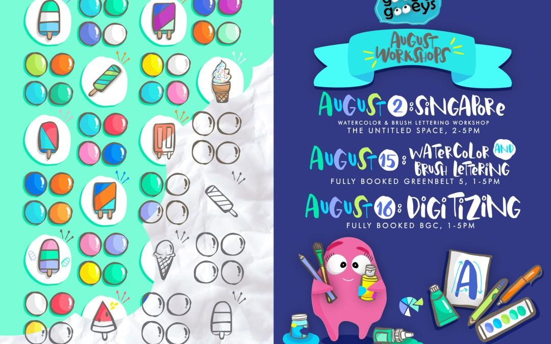 August Workshops & New Doodling Buddies