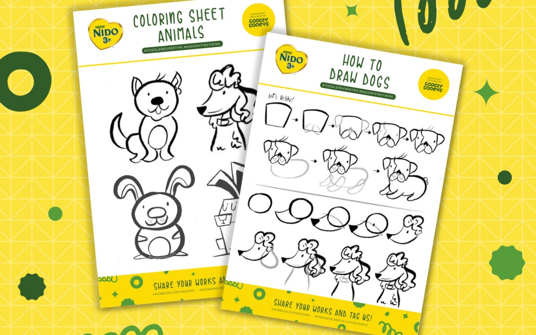 Free Printable: Drawing Animals and Coloring Worksheet