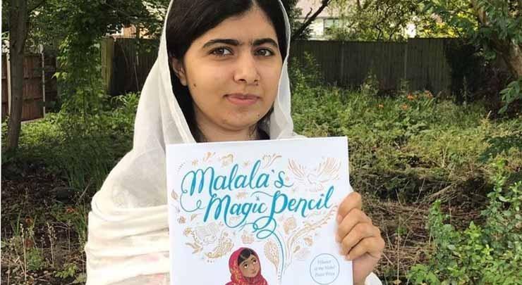 کتابیں پڑھنا ملالہ یوسفزئی کے نئے سال کا ہدف