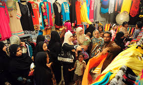 How did the lockdown affect Pakistani women's Eid shopping?