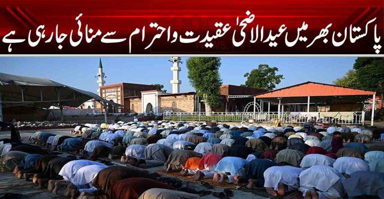 پاکستان بھر میں عیدالاضحیٰ مذہبی عقیدت و احترام سے منائی جارہی ہے