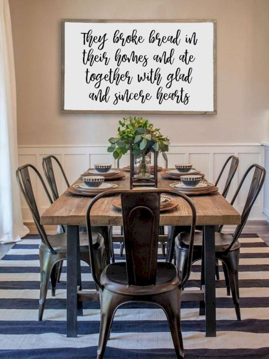 30 Best Farmhouse Table Dining Room Decor Ideas (12)