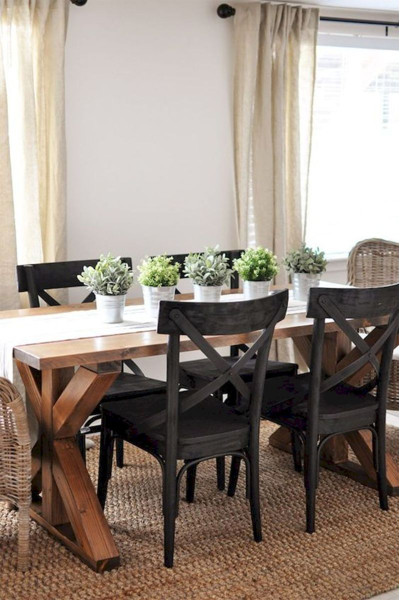 30 Best Farmhouse Table Dining Room Decor Ideas (24)