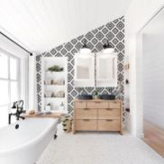 35 Stunning Modern Farmhouse Bathroom Decor Ideas Make You Relax In 2019 (16)
