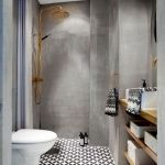44 Suprising Farmhouse Bathroom Shower Decor Ideas And Remodel (43)