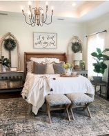 50 Awesome Farmhouse Bedroom Decor Ideas And Remodel (15)
